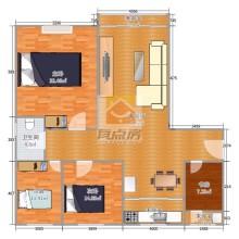 (东区)尚城华府4室2厅1卫110万143m²精装修出售