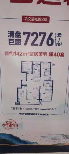 (东区)碧桂园·金科天宸4室2厅2卫95万135m²毛坯房出售